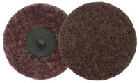 Weiler Non-Woven Aluminum Oxide Maroon Quick Change Disc - Plastic Backing - Medium - 2 in Diameter - 51531