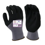 Armor Guys ExtraFlex HCT 04-002 Gray/Black Large Nylon Work Gloves - Nitrile Foam Both Sides, 3/4 Back Coating - 04-002-L