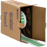Brady Permasleeve 2HX-375-2-GR-S Green Polyolefin Die-Cut Thermal Transfer Printer Sleeve - 1.969 in Width - 0.622 in Height - 0.188 in Min Wire Dia to 0.32 in Max Wire Dia - Double-Side Printable - B