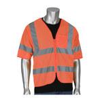 PIP Hi-Vis Orange Large/XL Polyester Mesh High-Visibility Vest - 1 Pockets - 616314-24553