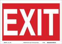 Brady B-586 Paper Rectangle White Exit Sign - 10 in Width x 7 in Height - 115916
