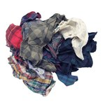 NuTrend 180-25 Mixed Flannel 25 lb Reclaimed Rag - Box