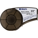 Brady M21-750-423 Black on White Polyester Continuous Thermal Transfer Printer Label Cartridge - 3/4 in Width - 21 ft Length - B-423
