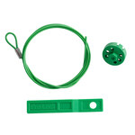 Brady Green Lockout Cable 122252 - 754473-71195