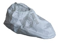 Epic White Universal Cleanroom Shoe Covers - ISO Class 5 Rating - 7 in Height - Polyethylene/Polypropylene Upper and Vinyl Sole - 15 in Sole Length - 51658