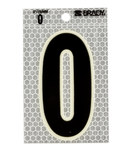 Brady 3010-0 Black on Silver Number Label - Indoor / Outdoor - 2 1/2 in Width - 3 1/2 in Height - 3 in Character Height - B-309