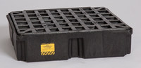Eagle Black High Density Polyethylene 2000 lb 15 gal Spill Pallet - Supports 1 Drums - 26 1/4 in Width - 26 in Length - 6 1/2 in Height - 048441-00492