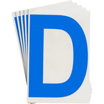 Brady Toughstripe 121713 Blue Polyester Letter Label - Indoor - 6 in Width - 8 in Height - 8 in Character Height - B-514