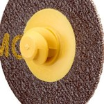 3M Roloc 361F Coated Aluminum Oxide Yellow Quick Change Disc - Cloth Backing - YF Weight - 80 Grit - Medium - 3 in Diameter - 22404