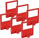 Brady Red Polypropylene Lockout Cleat 65406 - 2.31 in Width - 0.19 in Height - 754476-65406