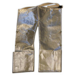 Chicago Protective Apparel Large Aluminized Carbon Kevlar Step-In Fire Resistant Chaps - 778-ACK LG