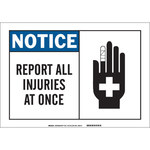 Brady B-555 Aluminum Rectangle White Accident Notice Sign - 7 in Width x 10 in Height - 46474