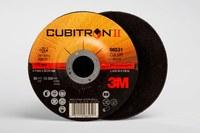 3M Cubitron II COW Ceramic Aluminum Oxide Cutoff Wheel - Type 27 (Depressed Center) - 60 Grit Medium Grade - 4 1/2 in Diameter - 7/8 in Center Hole - 0.045 in Thickness - 66531