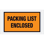 Shipping Supply Tape Logic Orange Packing List Enclosed Envelopes - 5 1/2 in x 10 in - 2 mil Thick - SHP-13070