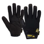 West Chester Pro Series Job 1 86150 Black Large PVC/Synthetic Leather Work Gloves - Wing Thumb - 8.75 in Length - 86150/L