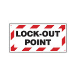 Brady 151254 White Polystyrene w/ Overlaminate Control Panel Lockout Point Label - 3 in Width - 1.5 in Height - B-302