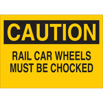 Brady B-401 Polystyrene Rectangle Yellow Truck & Forklift Warehouse Traffic Sign - 14 in Width x 10 in Height - 25801