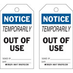 Brady 86417 Black / Blue on White Polyester / Paper Maintenance Tag - 3 in Width - 5 3/4 in Height - B-837