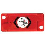 Red 5G Resettable Drop-N-Tell Indicators - 7/8 in x 2 in x 1/4 in - SHP-8351