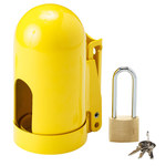 Brady Snap Cap Yellow Powder-Coated Steel Gas Cylinder Lockout Device 90496 - 5.004 in Width - 9.962 in Height - High Pressure Gas Cylinders Compatibility - 754476-90496