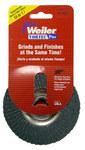 Weiler Non-Woven Type 29 Zirconium Flap Disc - 80 Grit - Medium - 4 in Diameter - 5/8 in Center Hole - 30824