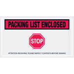 Shipping Supply Tape Logic Red Important Papers Enclosed Envelopes - 5 1/2 in x 10 in - 2 mil Thick - SHP-13073