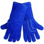 Global Glove 1200KB Blue Universal Leather Welding Glove