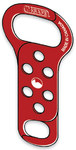 Honeywell M-Safe Steel Lockout/Tagout Hasp - 2.5 in Width - 5.44 in Height - 3/4 in Jaw Diameter - 6 Padlock Capacity - HONEYWELL 666