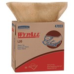 Kimberly-Clark Wypall L20 Brown Paper Wiper - Pop-up Dispenser - 88 sheets per carton - 16.8 in Overall Length - 9.1 in Width - 47033