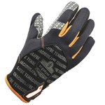 Ergodyne ProFlex 821 Black/Orange Large Polyester Mesh Work Gloves - Silicone Palm Coating - 17234
