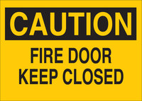 Brady B-120 Fiberglass Reinforced Polyester Rectangle Yellow Fire Exit Sign - 10 in Width x 7 in Height - 47075