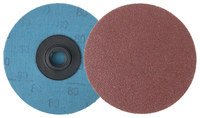 Weiler Coated Aluminum Oxide Quick Change Disc - Cloth Backing - 80 Grit - Medium - 3 in Diameter - 60057