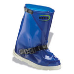 Servus Neos IT12PT17 Blue Large Waterproof & Rain Overboots/Overshoes - 12 in Height - Polyurethane Upper and Polyurethane Sole - IT12PT17 SZ LG