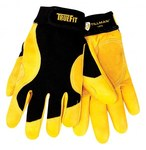 Tillman TrueFit 1475 Gold/Black Large Grain Cowhide Leather/Spandex Work Gloves - Leather Palm & Fingers Coating - 9 in Length - Smooth Finish - 1475L
