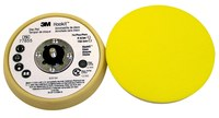 3M Hookit 77855 Soft Beige Disc Pad - 5 in DIA - 11/16 in Thick - 5/16 - 24 External Thread Attachment