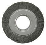 Weiler Ceramic Wheel Brush 0.043 in Bristle Diameter 120 Grit - Arbor Attachment - 6 in Outside Diameter - 2 in Center Hole Size - 86124