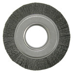 Weiler Ceramic Wheel Brush 0.043 in Bristle Diameter 120 Grit - Arbor Attachment - 6 in Outside Diameter - 2 in Center Hole Size - 86124