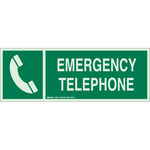 Brady Bradyglo B-347 Polyester / Polystyrene Rectangle Phone Location Sign - 14 in Width x 5 in Height - Glow in the Dark - 90927