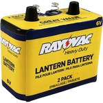 Rayovac Heavy Duty Lantern Battery - Single Use Zinc Chloride 6V - 944-2R