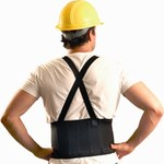 Ergodyne Econo Maxx Black X-Small Spandex Back Support Belt - Lumbar Pad Belt - 8 in Width - 012844-56044