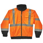 Ergodyne GloWear Type R Orange Medium Polyester Cold Condition Jacket - 2 Pockets - Detachable Hood - 720476-24463