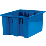 Blue Stack & Nest Containers - 17 in x 14.5 in x 9.875 in - SHP-3040