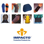 Impacto Viscolas Ultra Performer Blue/Gray 8 to 10 Polymer Insole - 617099-14762