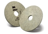 3M Trizact 685DC Diamond Tool & Cutter Grinding Wheel - 10 Grit - Ultra Fine Grade - 3 in Diameter - 1 1/4 in Center Hole - 1/4 in Thick - 64813