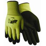Red Steer ATA 505 Black Large Aramid Cut-Resistant Gloves - ANSI 4 Cut Resistance - Nitrile Palm & Fingers Coating - 505-L