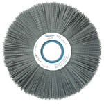 Weiler Silicon Carbide Wheel Brush 0.035 in Bristle Diameter 180 Grit - Arbor Attachment - 10 in Outside Diameter - 2 in Center Hole Size - 83330