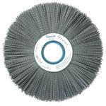 Weiler Silicon Carbide Wheel Brush 0.04 in Bristle Diameter 80 Grit - Arbor Attachment - 10 in Outside Diameter - 2 in Center Hole Size - 83350