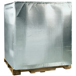 Shipping Supply Silver Insulated Pallet Cover - 48 in x 40 in x 60 in - 3/16 in Thick - SHP-13038