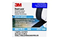 3M Dual Lock MP3541/42 Black Reclosable Fastener - Mushroom Hook with 400 stems/in Stem Count - 1 in Width x 5 yd Length - 06483