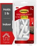 3M Plastic White Hooks - 99313